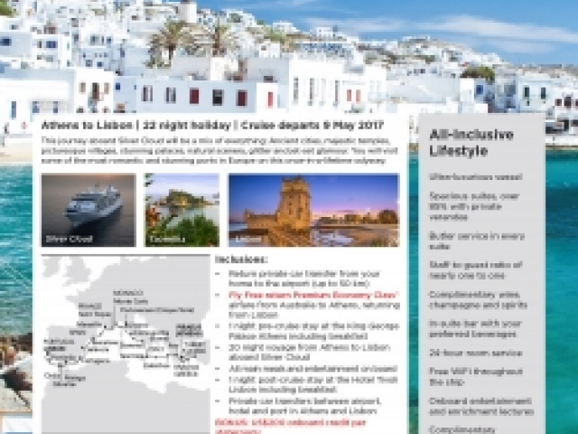 Silversea - Greek Isles & The Riviera